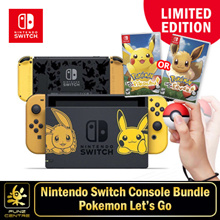 Limited Edition Pokemon Nintendo Switch Console System Bundle with Pokemon Lets Go Game.Local Stocks and Warranty. FREE DELIVERY!