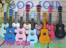 [Many Sold Below $20]21 inches Ukelele Good String Good Sound Quality Adjustable knob Easy learning