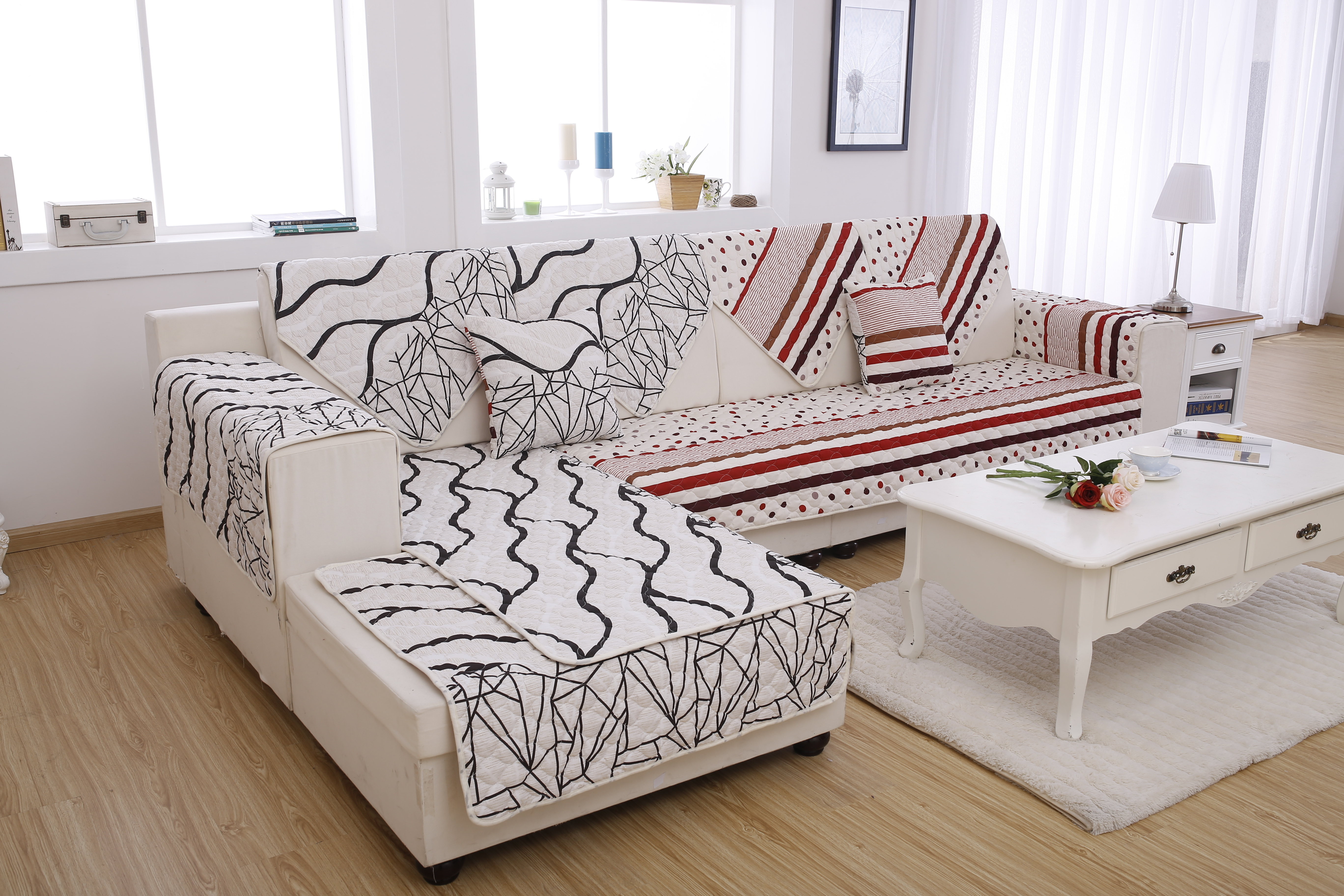 Qoo10 Local Seller Korea Style Sofa Cover Quilt Sofa Cover