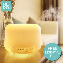 BEST OFFER!! FREE ESSENTIAL OIL - 4 DESIGNS -  MUJI style Diffuser 500ML - Aroma Humidifier USB