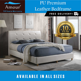 Amour Brand Deluxe PU leather bed Single size/Super Single size/Queen size/King size FREE DELIVERY