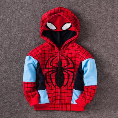 b5c73ed4cfd shop 2-8 Ages Iron Man Coat Kids Avengers Spring Autumn Children outerwear  Cotton