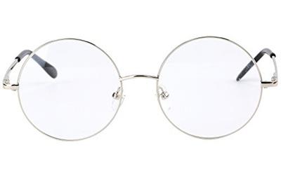 ef93fba96f Agstum Retro Round Prescription ready Metal Eyeglasses Frame (Large Size)