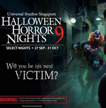 HHN9 USS Universal Studios Singapore Halloween Horror Nights 9 Ticket