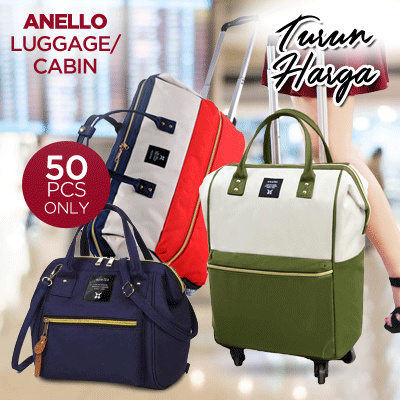 TODAY SALE!Anello Travel Luggage 2roda~4roda|travel Bag|MultifunctionBag*Cheapest Price!HIGH QUALITY Deals for only Rp488.000 instead of Rp488.000