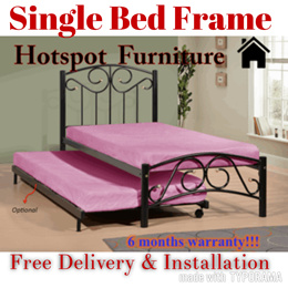 Stong N Duable Single Bed Bed Frame Only S$168 Up to 50% Dis ! Fast ! Free Delivery N Installation