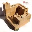 <¥28000→カートクーポンで🉐!!1/20~1/21まで!!> 天才脳を育てた藤●四段のおもちゃ WoodEncube社の立体パズル(standard)60キューブ ビー玉 10個木の立体パズル
