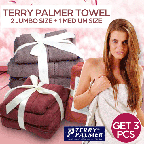 TERRY PALMER PAKET HEMAT MURAH! HANDUK TOWEL ONE POLOS ISI 2 JUMBO Deals for only Rp79.000 instead of Rp119.697