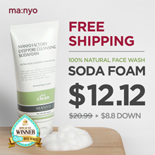 [Manyo Factory HQ Direct operation]★Soda Foam★Non-irritating Natural face wash