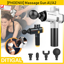 Bestseller⭐[PHOENIX] Muscle Massage Gun Sport Therapy Massager Body Relaxation Pain Relief Slimming