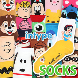 💕INTYPE Socks [BUY5+GIFT1] Disney Marvel Pokemon Licensed Fashion Women Men Korean Spring Summer