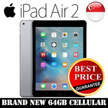 [Brand New] Apple iPad Air 2 / 4G/LTE Cellular / 64GB Storage / Space Gray with One Year Warranty