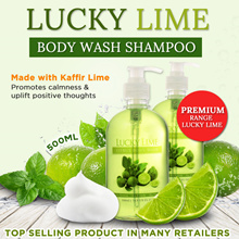 ★Kaffir Lime 招财.开运.避邪.去霉运 Double Power★Lucky Lime Premium Body Shampoo 500ml / Body Shampoo 750ML