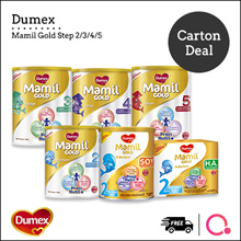 [DUMEX] [CARTON DEAL] Mamil Gold Step 2/3/4/5/ HA/Babies/ Kids Mil