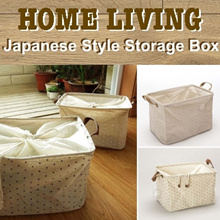 ✤ Japanese Style Storage Box ✤ Foldable Fabric Storage Bag ✤ Collapsible Laundry Bag ✤ Laundry Baske
