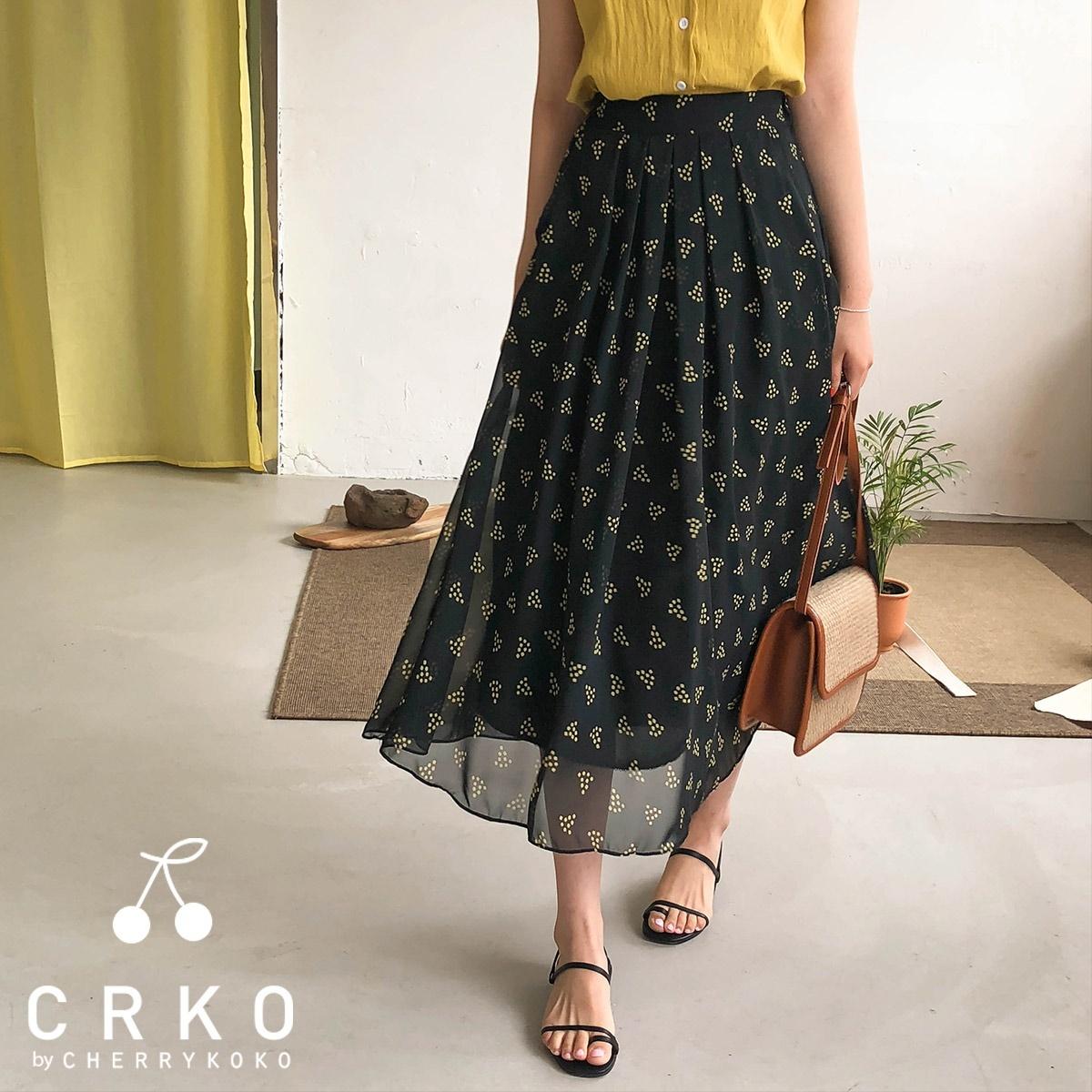 [CHERRYKOKO官方旗艦店] 鬆緊帶長裙 / gamma skirt