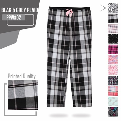 BLACK GREY PLAID