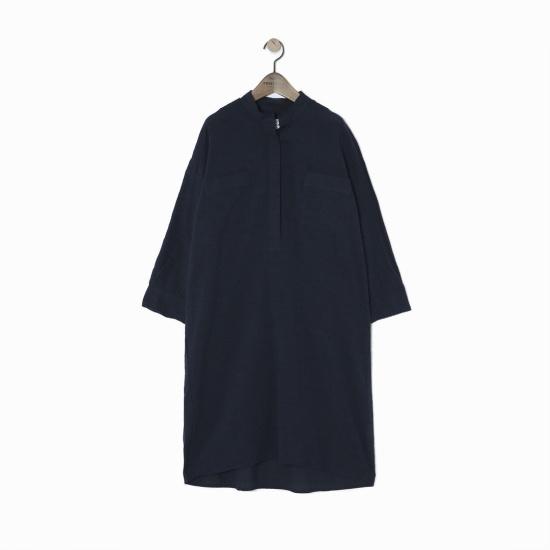 ペノムCOVETBLANヘンリネクシャツ、ワンピースV170COP105W シフォン/レース/フリル/ 韓国ファッション