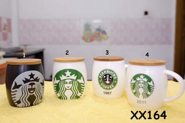 ? mug / gelas teh dan kopi keramik bulat tutup kayu ?