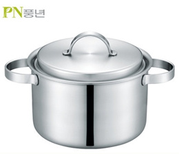 [PN] Pure Garten 5-ply Stainless deep Two handle Pot(28cm)/ induction / Cookware / made in Korea