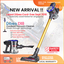 11.11 SALE [▼-89%] Dibea D18 Cordless Vacuum Cleaner Handheld Stick  | Local Warranty | Safety Mark