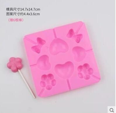 Homemade handmade chocolate star lollipop mold diy cartoon children pig  sister starfish candy bar ca