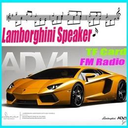 New Model Car Lamborghini Portable mini Speaker TF/USB/FM for Mobile Phone and PC