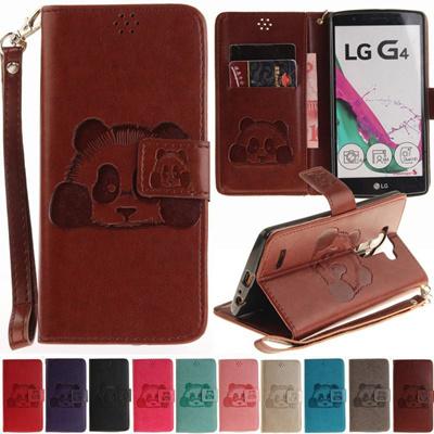 official photos 1cd22 3d80d lg g4 h815 h818 lg g4 case leather wallet phone cases lg g4 case flip cover  luxury 3d panda leather
