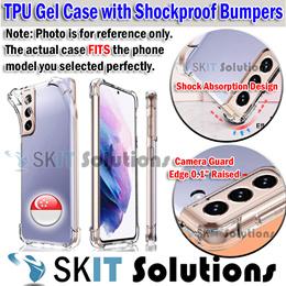Samsung Galaxy A42/A51/A52 Bumper Gel Case Cover Casing TPU/Tempered Glass Screen Protector