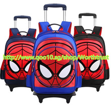 Children Trolley School Bag Backpack Wheeled School Bag For Boys Kids Wheel Schoolbag Student Bags