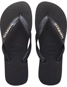 Havaianas Logo Metallic Black/Grey Flip Flop