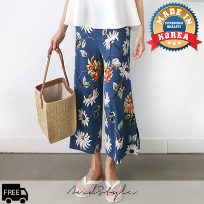 [AndStyle官方旗艦店] 寬筒長褲 Rable Flower Banding Wide Pants_235499