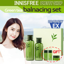 ★Innisfree★(set) 2018 NEW! green tea balancing special skin care set/ skin lotion cream