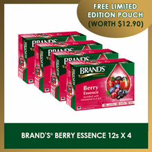 [BRAND WEEK] FORTIFIED WITH VITAMINS BRANDS Berry Essence (4 packs x 12 btls)