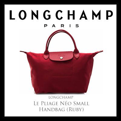 824ed0912e36 Qoo10 - Longchamp Le Pliage Néo Small Handbag (Ruby)   Bag   Wallet