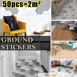 [BL]HEXAGONAL GROUND STICKERS*READY STOCKS/floor mat/wallpaper/FUNLIFE