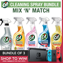 [Bundle of 3] CIF UK Cleaning Spray ★ 6 TYPES ★ Mix-n-Match! Actifizz/Bathroom/Kitchen/AntiBacterial