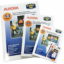 Aurora High Quality Laminating Pouch A4 / A3. ( Bundle Of 3 )   Local Seller / Fast Delivery