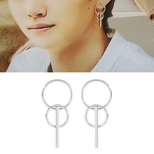【free shipping】GOT 7 style! TWO RING AND ONE STICK PIERCE(2color)