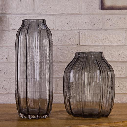 Qoo10 Decorative Glass Vases Vase Decoration Minimalist Modern Living Room G Furniture Deco