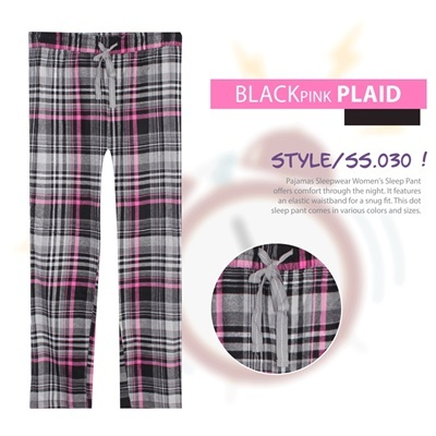 BLACK PINK PLAID