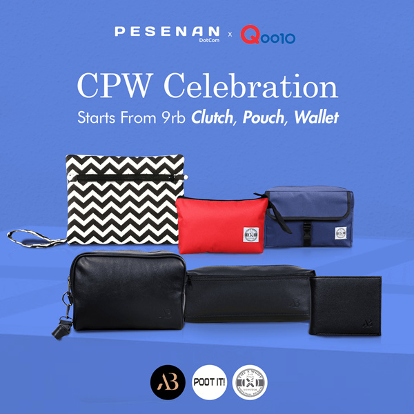 GET 2 Pcs Unisex Pouch Deals for only Rp26.000 instead of Rp26.000
