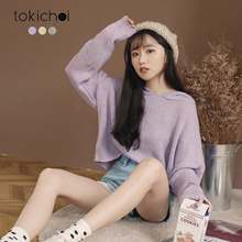 TOKICHOI - Loose Hooded Long Sleeve Top-181805-Winter