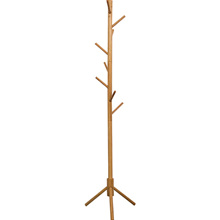 Norzy Pinewood Floor Stand Pole Coat Hat Hanger Rack for Hall Entry Living Room Office