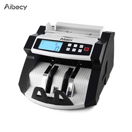 Automatic Multi-Currency Cash Banknote Money Bill Counter Counting Machine LCD Display with UV MG Co