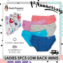 HUSH PUPPIES 5PCS LADIES (LOW BACK MINIS / BIKINIS / HIPSTER / MINIS) | FLAT PRICE | FREE DELIVERY!