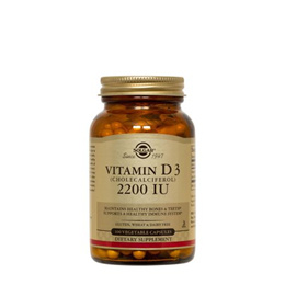 Solgar 비타민 D3 2200 IU Vegetable Capsules, 100 Ct