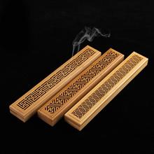 1 Pcs Bamboo Incense Burner Hand Carving Hollow Incense Stick Holder Joss Stick Box Lying Censer Hom
