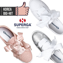 [SUPERGA] Superga 2750 Superlight / Ribbon Sneakers/100%authentic/ Korean Trendy ★BLACK Additional★