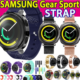 Samsung Galaxy Watch 46mm 42mm Gear Sport Stainless Steel Loop Milanese silicone strap